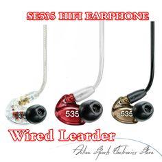 In stock! SE535 In Ear Earphone Dynamic HIFI Stereo Noise Canceling Earphones 3.5mm SE 535 with Retail box Free ship