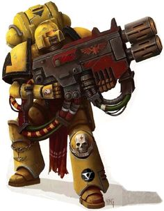 Imperial Fists Devastator Marine armed with a Multi-Melta