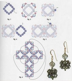 Cross can be turned into cube earring.