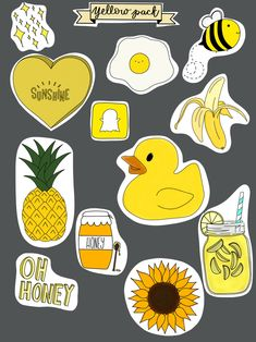 pack of 12 high quality stickers. drawn by me using procreate, and cut using a Cricut (clean sharp lines) all stickers range from inches long. Homemade Stickers, Diy Stickers, Printable Stickers, Planner Stickers, Tumblr Stickers, Phone Stickers, Trendy Wallpaper, Cute Wallpapers, Tumblr Yellow