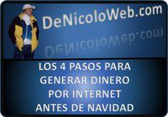 """Sábado 8 de Noviembre del 2014 El evento más grande en Latino América:  """"LOS 4 PASOS PARA GENERAR DINERO POR INTERNET ANTES DE NAVIDAD"""" Puro contenido (Sin costo) Puedes darte de alta aquí: http://marketerpro3000.com/dfdenicolo/conferencia08112014"""