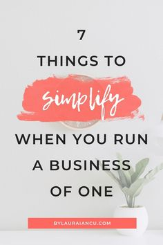 Feeling like you're drowning in work? Here's how to simplify your blog  and business so you can enjoy the journey and avoid burnout. #startingabusiness #smallbiz #solopreneur
