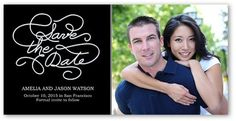 Clean Style 4x8 Photo Card | Save the Date Cards