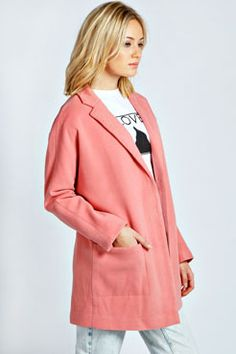 Ronya Oversized Boyfriend Coat at boohoo.com