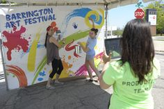 Two more days until the Barrington Art Festival! Today, we're throwing it back to some of our team having fun at last year's fest. #TBT