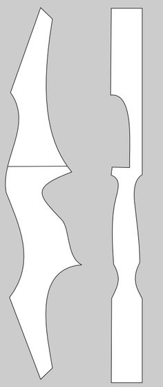 Form / shape for a take-down bow