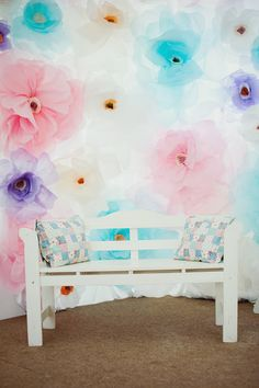 floral backdrop #party #backdrops #floral