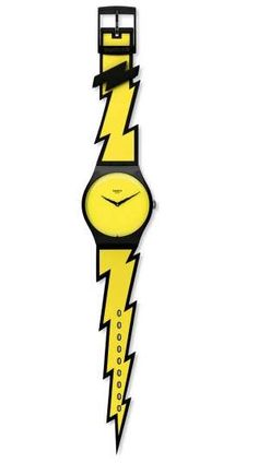 Jeremy Scott x Swatch - Jeremy Scott has made a name for himself designing collections for Adidas shoes. Moving on, he now introduces the Jeremy Scott X Swatch Watch colle. Jeremy Scott, Elle Macpherson, Moschino, Pop Stickers, Cool Pops, Design Fails, Lightning Bolt, Cool Gifts, Watches For Men