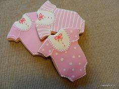 Bibbed style Baby Onesie Hand decorated sugar cookies by 3CSC