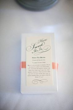 50 Best Bridal Shower Favor Ideas: sweet tea bridal shower favors (by the treasury paper and gift)