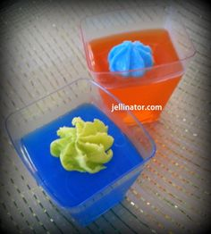 The BRONCO vs the SEAHAWK Jello Shots! Dissolve orange or blue jello in 1 cup hot water. Add 1/2 c Loopy vodka and 1/2 c peach schnapps. Jellinate and chill. Garnish w tinted icing. HAPPY SUPER BOWL!