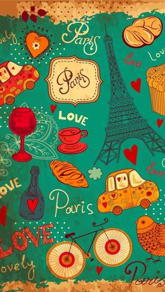 Paris, the city of love, wallpaper for Android or iPhone. Paris Wallpaper, Love Wallpaper, Cartoon Wallpaper, Mobile Wallpaper, Pattern Wallpaper, Wallpaper Backgrounds, Iphone Backgrounds, Black Wallpaper, Cellphone Wallpaper