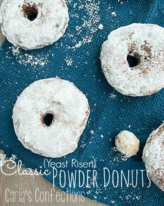 Classic Powder Donuts (Donut Fridays!) from www.carlasconfections.com #donuts #recipe