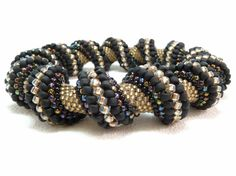 Queen of the Night Cellini Spiral Beadwoven by LittlestoneDesign