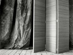HORSEHAIR SCREEN Woven Horsehair Folding Room Screen by OCHRE