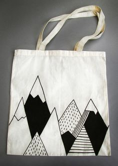 Mountain Tote Bag by Siobhan Jay siobhanjay.com #mountaintotebag #mountain