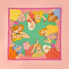STYLE: hair salon trips to the beauty salon never looked so fun as they do printed on this karen mabon scarf! use it to draw inspiration for future hair styles/colors, or wear it as an accessory to co