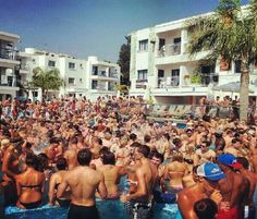 A Hotel Pool Party in Ayia Napa Cyprus