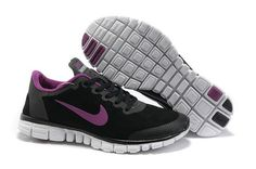 Womens Nike Free 3.0 V2 Suede Black Pink