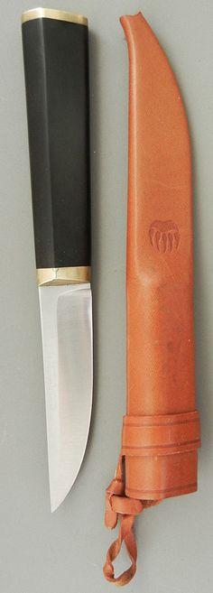 Tapio Wirkkala; 'Puukko' Knife and Case for Oy Hackman Ab, 1961.