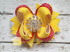Princess Girl Hair Bow  Belle Inspired by cococamila on Etsy, $9.00