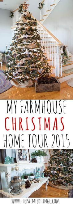 My Farmhouse Christmas Home Tour 2015