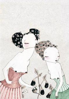 Las raíces que hay en mí (Cuentos de Venus 2011) Microrelatos ilustrados.  Más información: www.cuentosdevenus.wordpress.com