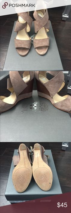 Vince Camuto 6.5 Wedge Vince Camuto 6.5 Wedge in Suede. Worn a few times Vince Camuto Shoes Wedges