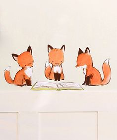 Foxy Book Club Wall Decal