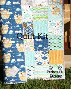 Gemma quilt kit featuring notting hill by robyn pandolph quilts little noahs ark quilt kit biblical theme diy do it yourself quilting sewing craft by sunnysidefabrics solutioingenieria Gallery