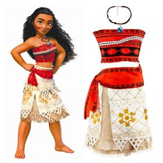 2017 New Summer Movie Moana Princess Dress Girl Baby Skirt Christmas Halloween  Party Cosplay Costume Kids Clothes Hot Sale 693a61650711