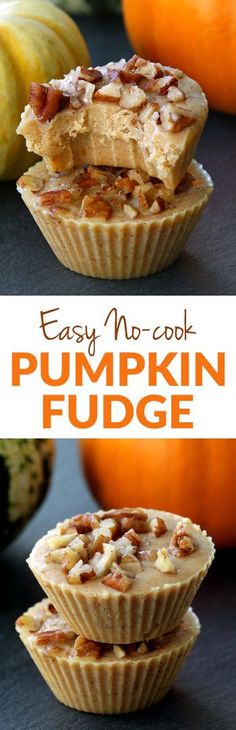 This pumpkin fudge requires only 4 ingredients, is no-cook and takes just a few minutes to make! Can be made vegan and dairy-free. With a video. Naturally gluten-free.