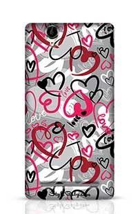 Love-Print Sony Xperia T2 Phone Case