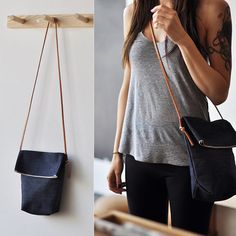 FIELD BAG - indigo denim. I could so make something like this with old jeans :)