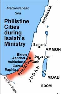 Philistine cities during Isaiah's ministry.