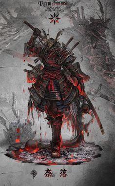Arte de samurai Nail Desing e-art nail design budapest Arte Ninja, Ninja Art, Japanese Artwork, Japanese Tattoo Art, Dark Fantasy Art, Fantasy Artwork, Fantasy Character Design, Character Art, Samourai Tattoo