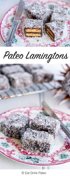 These paleo friendly lamingtons are gluten, grain and dairy-free and are perfect for birthday parties, picnics and, of course, Australia Day celebrations. Paleo Desert Recipes, Dairy Free Recipes, Paleo Recipes, Sweets Recipes, Vegetarian Paleo, Paleo Diet, Keto, Paleo Dessert, Almond Recipes