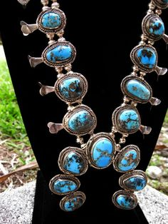 #WouldGiveAnything Rare Navajo Morenci Squash Blossom Necklace Huge by indianqueen