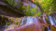 Kaskaden Utah, Seen, Water, Outdoor, Scenery Photography, Fountain, River, Waterfall, Wall Murals