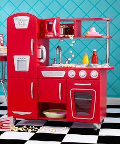 Love this KidKraft Red Vintage Play Kitchen Set by KidKraft on #zulily! #zulilyfinds