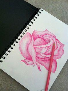 Pinterest: Art Ed Central loves sketchbook idea rose drawing