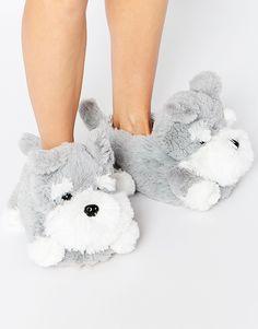 Image 1 ofNew Look Novelty Dog Slippers