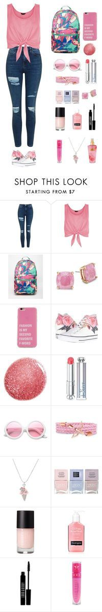 """""""Untitled #273"""" by keyling99 ❤️ liked on Polyvore featuring Topshop, New Look, adidas, Kate Spade, Converse, NARS Cosmetics, Christian Dior, ZeroUV, Nails Inc. and Lord & Berry"""