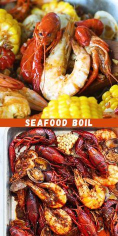 Crawfish Recipes, Seafood Boil Recipes, Seafood Dishes, Seafood Boil Seasoning Recipe, Cajun Shrimp Boil Recipe, Cajun Seafood Boil, Louisiana Seafood, Louisiana Crawfish Boil Recipe, Cajun Crawfish
