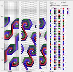 Bead crochet pattern, 13 round