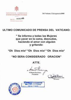 Humor gráfico: Último comunicado del Vaticano