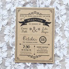 32 Unique Wedding Reception Invitation Examples Stock - You've had a terrific idea already, in having a calligrapher hand-write the invitations. Wedding Reception Invitations, Wedding Invitation Wording, Wedding Reception Decorations, Invitation Design, Reception Card, Wedding Stationery, Wedding Favors, Vintage Invitations, Diy Invitations