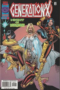 Generation X #24 by Scott Lobdell & Rick Leonardi, Marvel Comics, 1997! Available for sale on my eBay! Also up for grabs: my superheroine comic collection (70's-80's stuff), random Radio Comix books and more rare anime cels! My house is super small,...