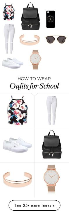 """Chic School Outfit"" by sophia-marie-beauty on Polyvore featuring COSTUME NATIONAL, Larsson & Jennings, Leith, Vans, Christian Dior, women's clothing, women's fashion, women, female and woman"