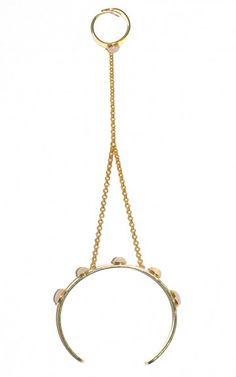 Bracelet bague pierres semi-précieuses opale